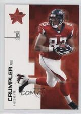 2007 Leaf Rookies & Stars #28 Alge Crumpler Atlanta Falcons Football Card
