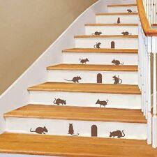 Halloween Inspired Wall Decal Stair Creepy 14 Mice 3 Hole Silhouette Vinyl Decor