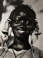 1952 Vintage Old AFRICA Ethnic Black TRIBAL GIRL Woman Female Portrait Photo Art