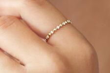Diamant Memory Ring 13 Brillanten 0,08 Carat 585er 14 K Gold Weißgold Rosegold
