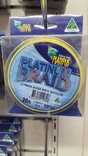 New Fishing PLATYPUS Platinum 500yd Braid fishing line