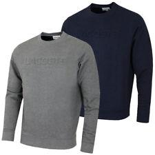 Lacoste Mens Sweater LETTERING COTTON FLEECE SWEATSHIRT SH6949 NEW