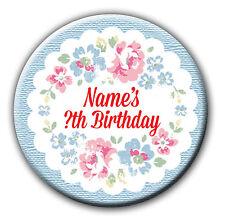 Personalizzata vintage floreale Hen Night COMPLEANNO Badge / SPECCHIO acquistare 4 ottenere 1 gratis