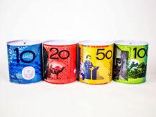 10 20 50 100 Dollar Note OZ Variety Money Tin Australian Box Jar Piggy Bank Coin