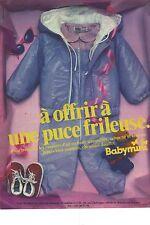 PUBLICITE ADVERTISING 1981  BABYMINI vetement bébé