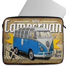 Personalised Laptop VOLKSWAGEN CAMPER BLUE Neoprene Sleeve Classic Car CL60