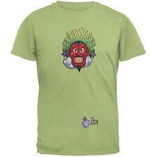 Devil & Flames Green Adult T-Shirt
