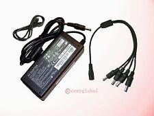 Global 12V AC Adapter+ 4-Splitte Power Supply Cord For LED 5050 3528 Strip Light