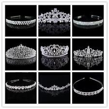 Silver Wedding Bridal Tiaras Diamante Crown Headband Hair Accessories Jewellery