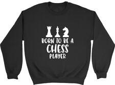 Nacido para ser un jugador de ajedrez Sudadera para hombre para mujer señoras Jumper
