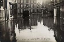 Northwich. Bull Ring in Flood. Car.
