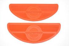Orange Oval Footboard Set,for Harley Davidson motorcycles,by V-Twin