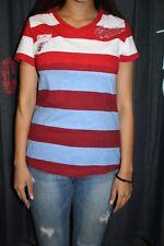 Arqueonautas Damen T-Shirt 802124 blau weiss rot gestreift neu New Collection