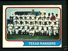1974 OPC O PEE CHEE BASEBALL 184 TEXAS RANGERS TEAM NM