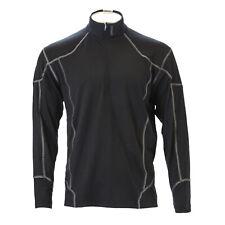 Spyder Men's Black Service Fleect T-Neck Active Top 3532 $125 New