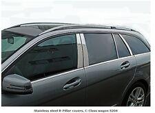 Mercedes W204 C Class Estate Wagon Chrome B Pillar Trim Covers