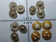 1 lotto bottoni gioiello strass smalti perle beige buttons boutons vintage g11