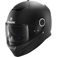 Shark Spartan Blank Motorcycle Motorbike Helmet - Matt Black
