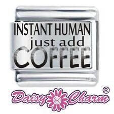 INSTANT HUMAN COFFEE Daisy Charms JSC Fits Classic Size Italian Charm Bracelet