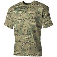 MFH Hombre T-Shirt Camiseta Algodón Ejército Militar Paintball Operation Camo