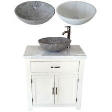 MOBILETTO da bagno | biancastro/Crema dipinto | Bianco Marmo Top Pietra Bacino