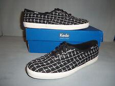Keds Women's Champion Metallic Boucle Fashion Sneaker NIB  Black  sizes  WF55631