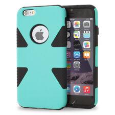 For Apple iPhone 6s 6 Plus Dynamic Tuff Slim Hybrid Hard Case Cover+Glass Screen