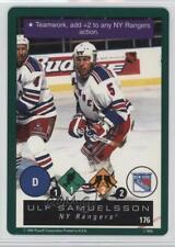 1995-96 Playoff One on Challenge 176 Ulf Samuelsson New York Rangers Hockey Card