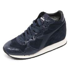 B7522 sneaker donna DIADORA HERITAGE TRIDENT scarpa blu shoe woman