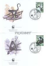 Honduras 1990 Mi FDC 1084-87 WWF Animals Tiere Monkeys Affe Singes Małpy