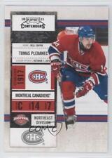 2010 Panini Playoff Contenders #50 Tomas Plekanec Montreal Canadiens Hockey Card