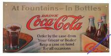 Plaque COCA COLA en METAL fer publicité boisson décoration intérieure plate NEUF