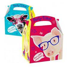 Farm Animals Childrens Kids Birthday Lunch Box Wedding Party Food Gift Loot Bag