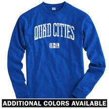Quad Cities Long Sleeve T-shirt LS - Iowa Illinois Davenport Moline  Men / Youth