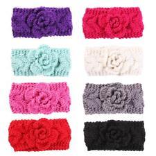 Kids Baby Infants Warm Wool Crochet Headband Turban Stretch Flower Hairband P4PM