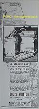 PUBLICITE LOUIS VUITTON STEAMER BAG SAC DE BORD BATEAU VOYAGE DE 1927 FRENCH AD