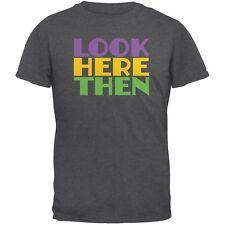 Mardi Gras Flash For Beads Funny Dark Heather Adult T-Shirt