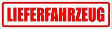 Lieferfahrzeug - Magnetschild - maf0021 für KFZ und sonstige Metalloberflächen