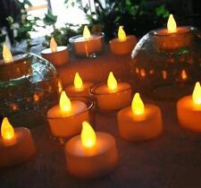 sin llama 24 piezas LED VELA Parpadeante velas pequeñas de pilas Home VELAS
