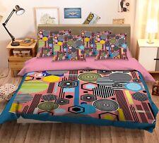 3D Cute Cartoon Pattern 42 Bed Pillowcases Quilt Duvet Cover Set Single Queen CA