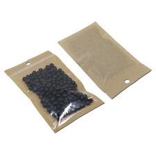 Clear brown sacs en plastique avec hang trou zip lock auto-adhésive emballage plat pochette