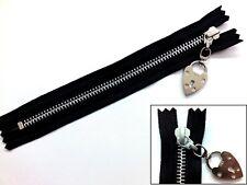 Zip, Zipper, Padlock Puller, Closed End, Metal, YKK, Black
