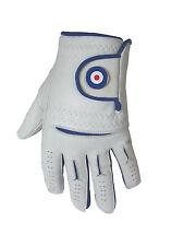 Mens Cabretta Leather Golf Glove + RAF Magnetic Ball Marker
