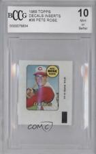 1969 Topps Decals #PERO Pete Rose Cincinnati Reds Baseball Card