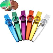 2pcs Simple Design Metal Kazoo Instrument Mouth Flute Guitar Accompaniment