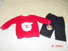 NWT Infant Boys 2 piece Carter's Outfit Christmas Santa Corduroy Pants Holiday