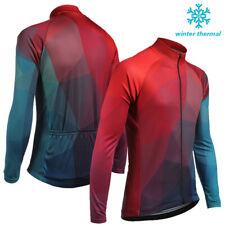 Unique Men's Winter Cycling Fleece Jacket Bike Thermal Jersey Warm Tops Clothing