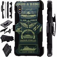 For Apple iPhone X/8/7/7 Plus/6/6S/6 Plus Phone Case MILITARY LOGO LuxGuard