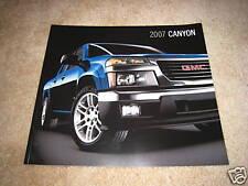 2007 GMC Canyon SLE SLT pickup truck sales brochure dealer literature