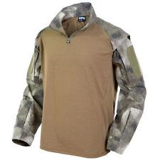 MFH Chemise Tactique US T-shirt à Poches Manches Longues Armée Combat HDT Camo